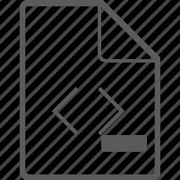 code, file, remove icon