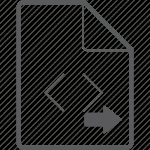 code, file, right icon