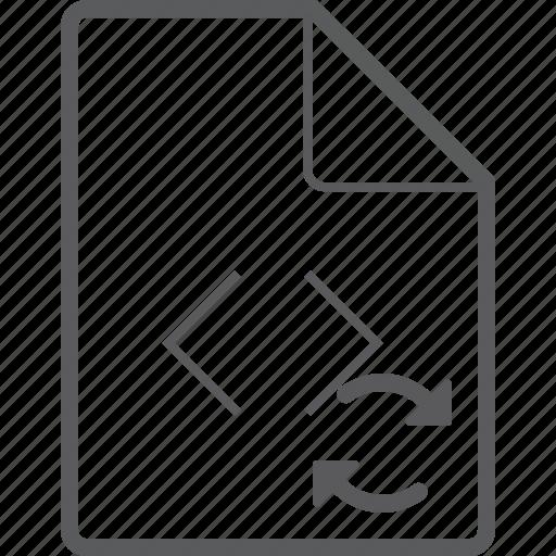 code, file, sync icon