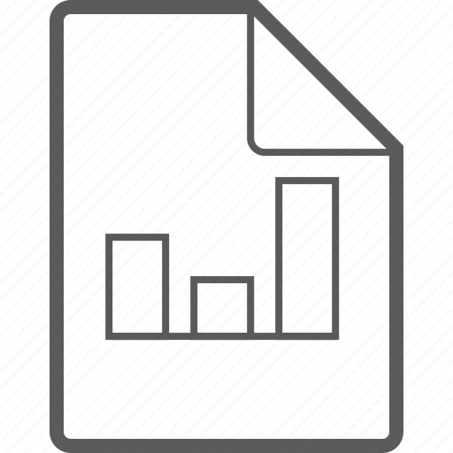 chart, column, file icon