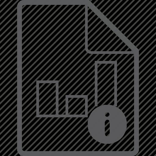 chart, column, file, info icon