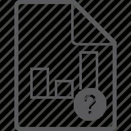 chart, column, file, question icon