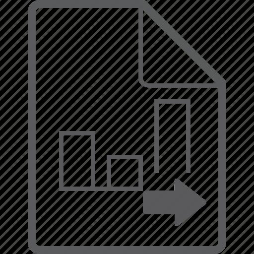 chart, column, file, right icon