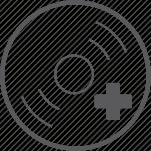 add, disc icon