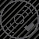 check, disc icon