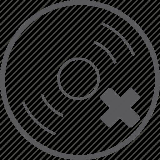 delete, disc icon