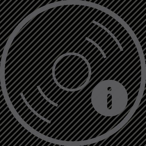 disc, info icon