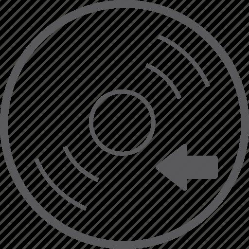 disc, left icon