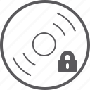 disc, lock icon