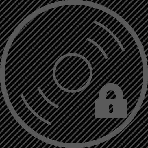 disc, lock icon