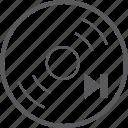 disc, next icon