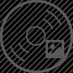 disc, picture icon