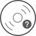 disc, question icon