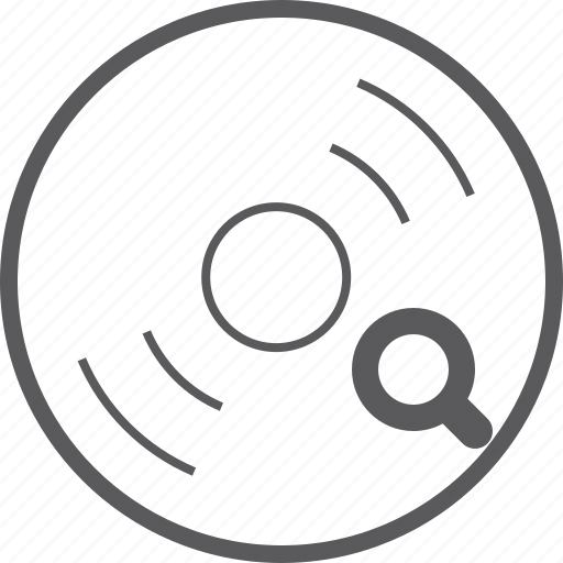 disc, search icon