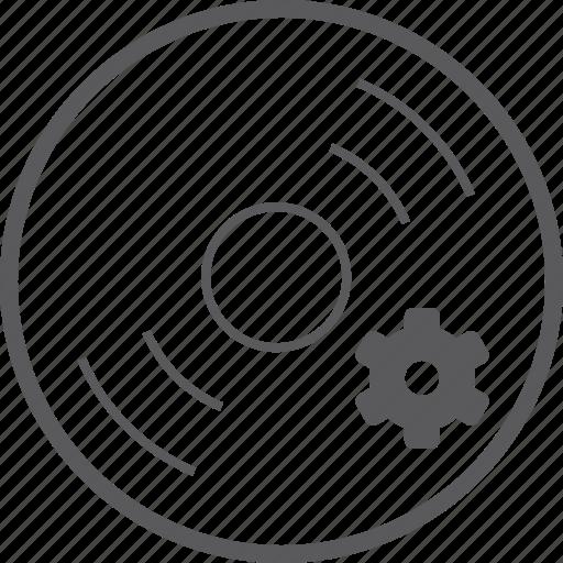 disc, setting icon