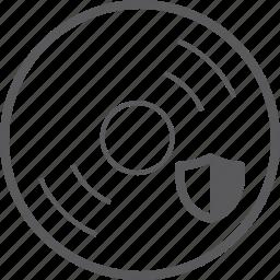 disc, shield icon