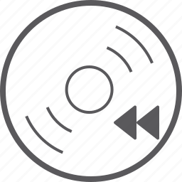backward, disc, skip icon