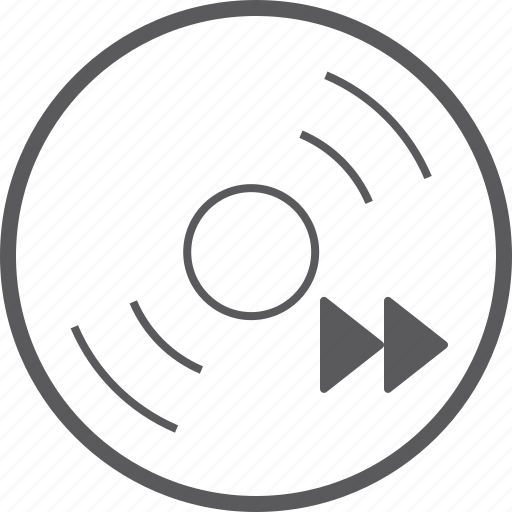 disc, forward, skip icon