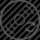 disc, sync icon