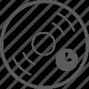disc, timer icon