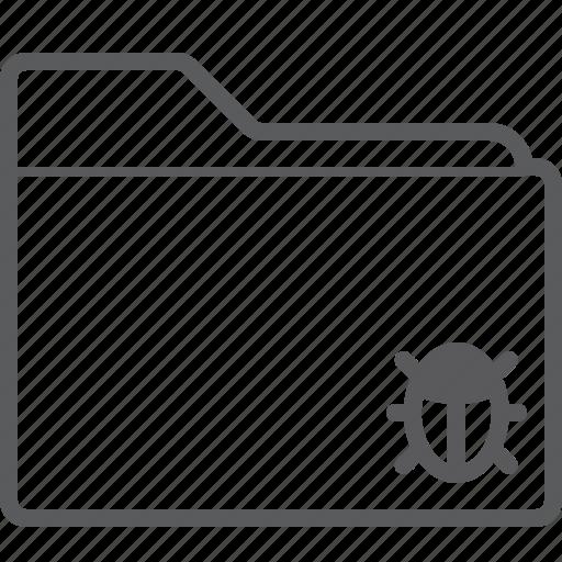 bug, folder icon
