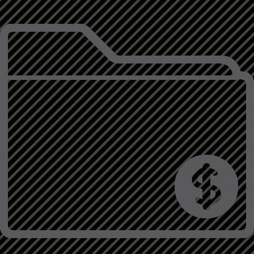 dollar, folder icon