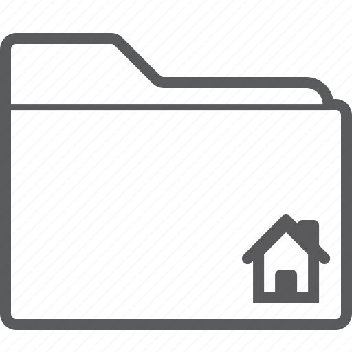 folder, house icon