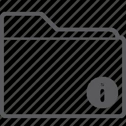 folder, info icon