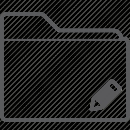 folder, pencil icon