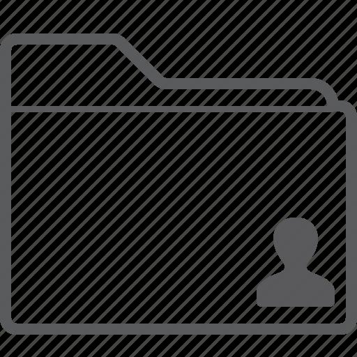 folder, person icon