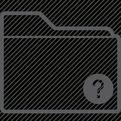 folder, question icon