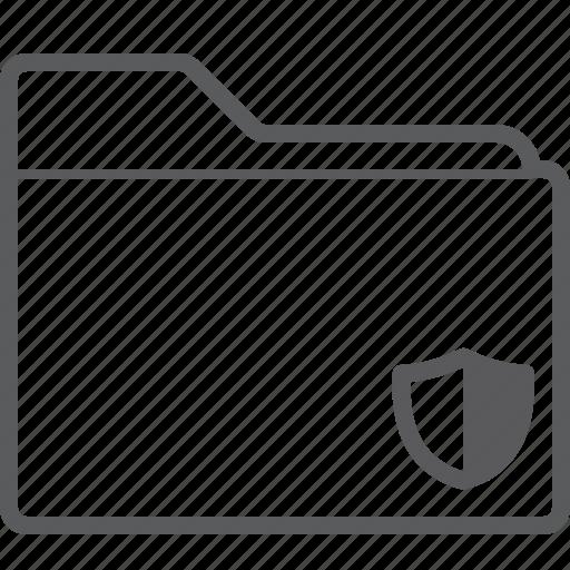 folder, shield icon