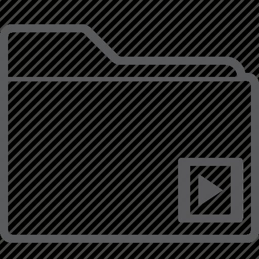 folder, player, video icon