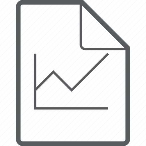 chart, file, line icon