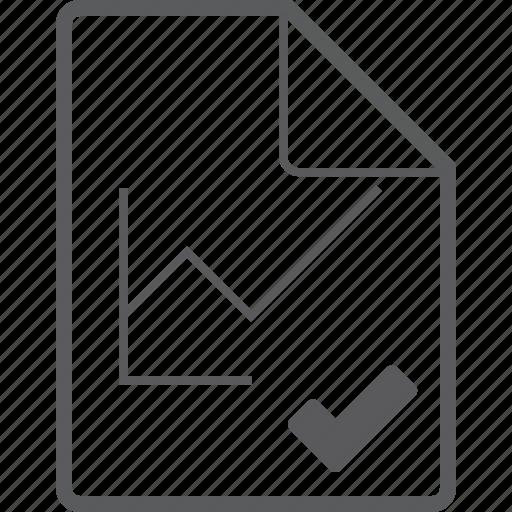 chart, check, file, line icon