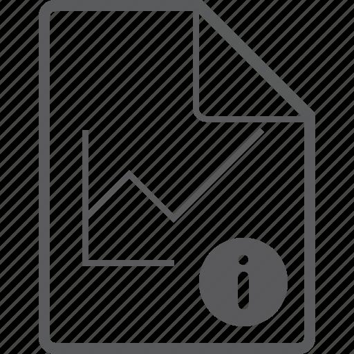 chart, file, info, line icon