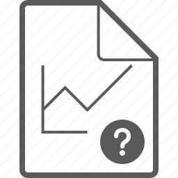 chart, file, line, question icon