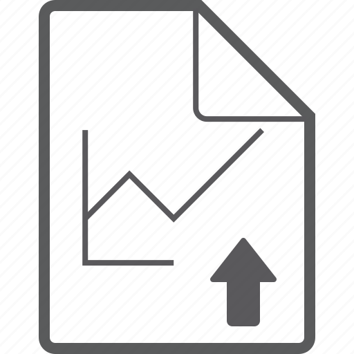 chart, file, line, up icon