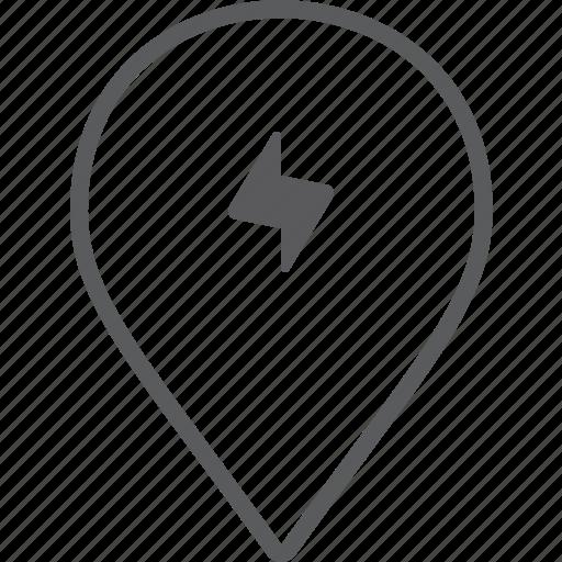 bolt, marker icon