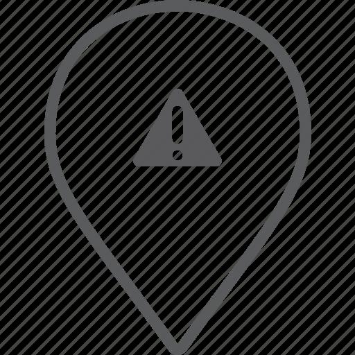 caution, marker icon