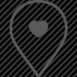 heart, marker icon