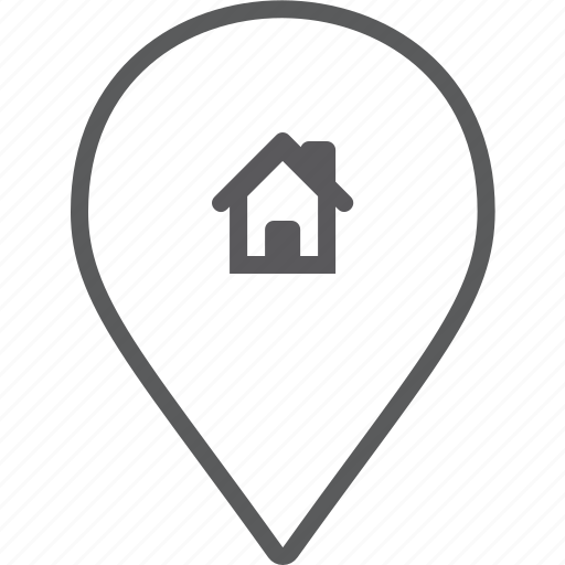 house, marker icon