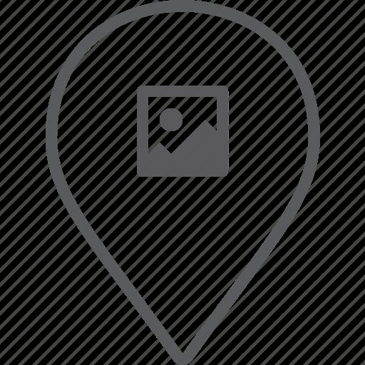 marker, picture icon