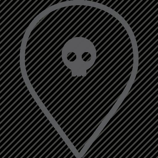 marker, skull icon