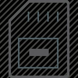memory, remove, stick icon