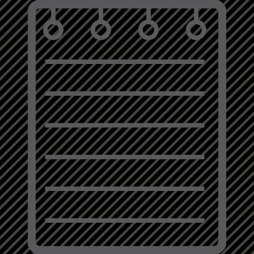 book, line, note icon