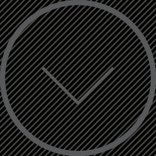 arrow, circle, down, navigation icon