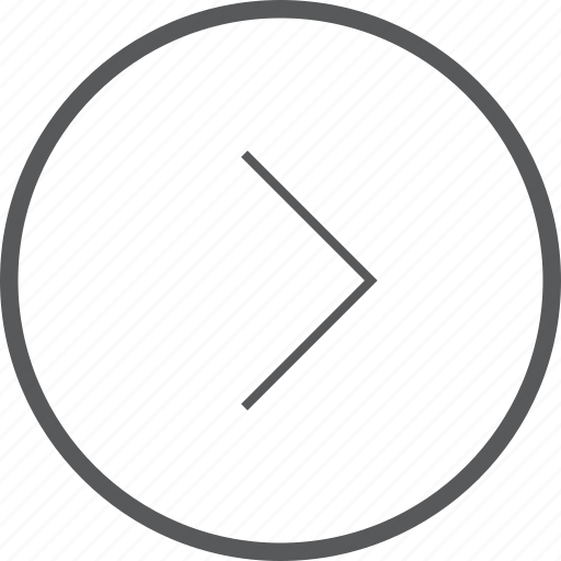 circle, direction, foward, navigation, next, right icon