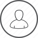 account, circle, human, person, profile, user, users icon