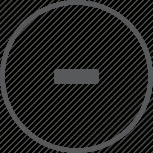 cancel, circle, close, delete, minus, remove icon